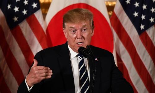 Trump hối thúc thương mại công bằng hơn khi thăm Nhật - ảnh 1