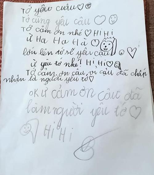 Lời lẽ ngọt ngào trong bức thư tình.