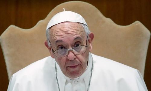 Giáo hoàng Francis tại Vatican ngày 20/5. Ảnh: Reuters.