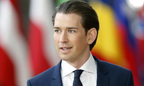 Thủ tướng Kurz khi còn nắm quyền hồi năm 2018. Ảnh: AFP.