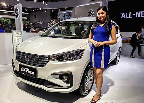 Suzuki Ertiga mớitại triển lãm IIMS, Indonesia 2019. Ảnh: Autoindustriya