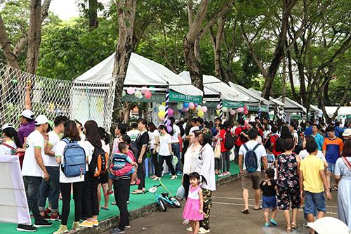 Đông đảo người tham dự Ngày hội sống xanh TP HCM năm 2018.