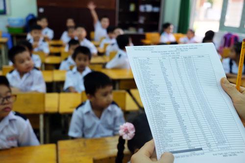 Học sinh một trường tiểu học ở quận Bình Thạnh, TP HCM. Ảnh: Mạnh Tùng.