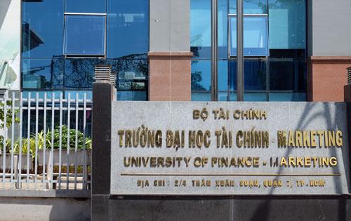 Đại học Tài chính - Marketing tạitrụ sở chính quận 7, TP HCM. Ảnh: Mạnh Tùng.