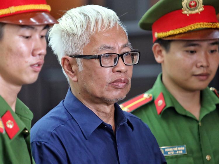 Ông Trần Phương Bình tại tòa hôm nay. Ảnh: Thành Nguyễn.