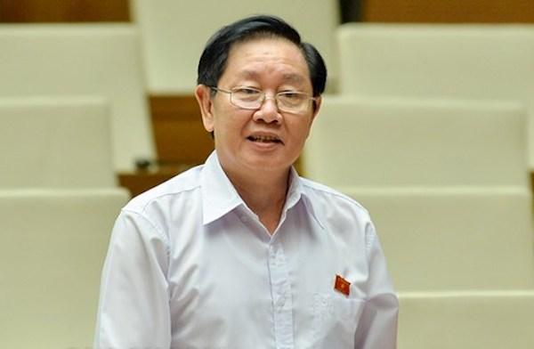 Bộ trưởng Nội vụ Lê Vĩnh Tân. Ảnh: Trung tâm báo chí Quốc hội.