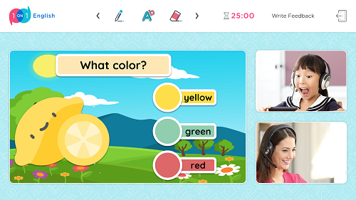 Công nghệ lớp học trực tuyến của One One One English (LOOONA) được thiết kế trực quan, dễ sử dụng với hơn 30.000 hoạt động và tương tác trong lớp học.