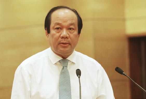 Ông Mai Tiến Dũng, Bộ trưởng, Chủ nhiệm Văn phòng Chính phủ. Ảnh: Võ Hải