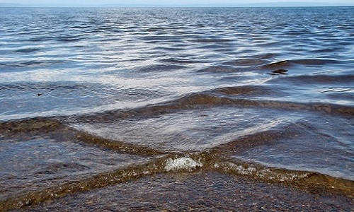 Hiện tượng biển giao nhau tạo ra những cơn sóng hình vuông. Ảnh: Twitter.