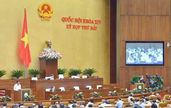 Các đại biểu tại hội trường Diên Hồng. Ảnh: Trung tâm báo chí Quốc hội