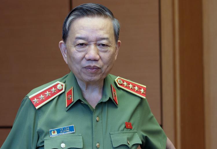 Bộ trưởng Công an, Đại tướng Tô Lâm. Ảnh: Võ Hải.
