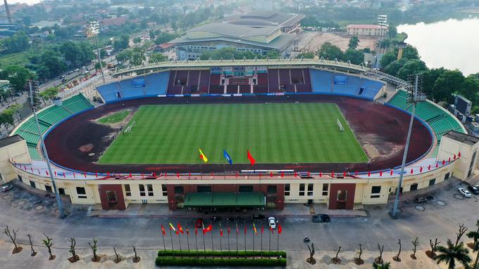 Sân 18.000 chỗ được chỉnh trang cho trận đấu của U23 Việt Nam