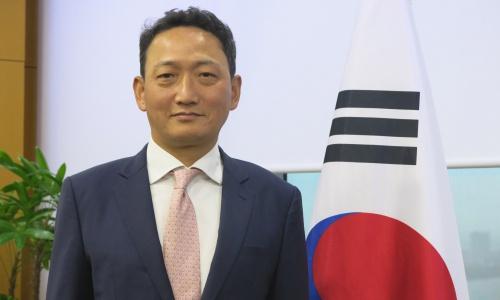 Đại sứ Hàn Quốc tại Việt Nam Kim Do-hyun. Ảnh: Việt Anh.