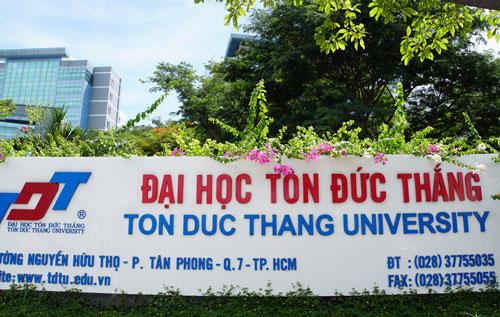 Đại học Tôn Đức Thắng có trụ sở ở quận 7,TP HCM. Ảnh: Mạnh Tùng.