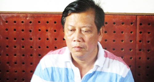 Đại gia Trịnh Sướng lúc bị bắt. Ảnh: Bộ Công an.