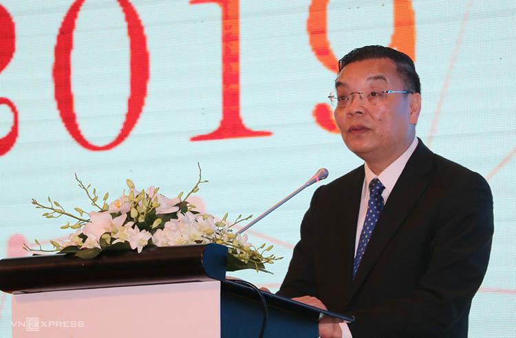 Bộ trưởng Chu Ngọc Anh phát biểu tại sự kiện. Ảnh: Hán Hiển.