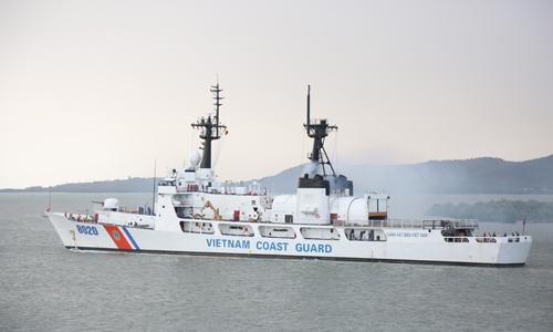 Tàu CBS 8020 của Cánh sát biển Việt Nam, là tàu đầu tiên Mỹ chuyển giao. Ảnh: CBSVN.