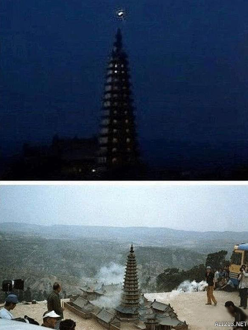 Những cảnh tòa tháp trên phim đa số đều là mô hình với kích thước nhỏ gọn.