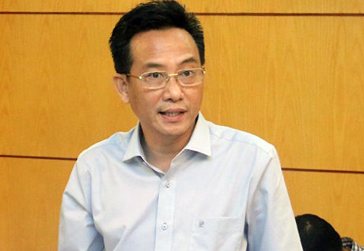 Ông Trần Đặng Đức trong buổi làm việc hồi tháng 11/2018. Ảnh: Bộ Tài Nguyên và Môi trường.