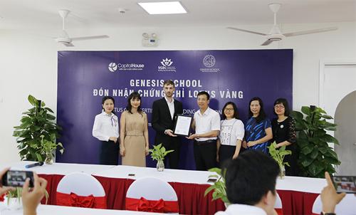 Genesis School nhận chứng chỉ xanh Lotus hạng vàng - ảnh 1