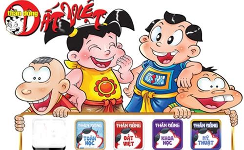 4 nhân vật chính của bộ truyện Thần đồng Đất Việt.