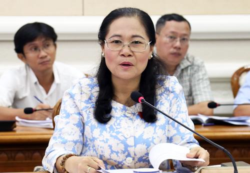 Chủ tịch HĐND TP HCM Nguyễn Thị Lệ. Ảnh: Hữu Nguyên