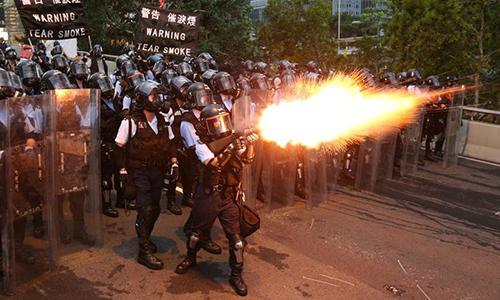 Chính quyền Hong Kong đóng cửa văn phòng vì biểu tình - ảnh 1