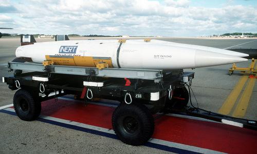 Phiên bản SRAM không có đầu nổ và động cơ dùng trong huấn luyện. Ảnh: USAF.