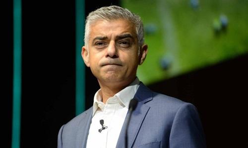 Thị trưởng London Sadiq Khan. Ảnh: AP.