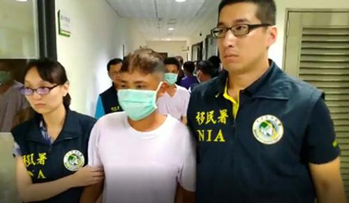 Các lao động trái phép người Việt vừa bị bắt giữ ở thành phố Đài Trung, Đài Loan.Ảnh: NIA Taichung