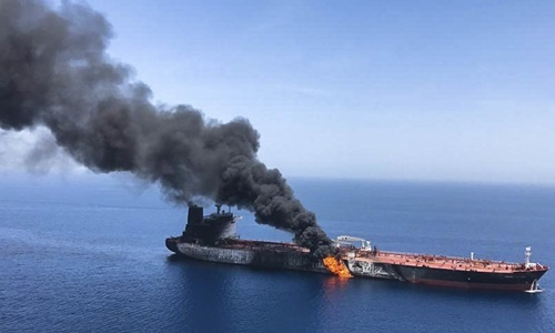 Mỹ thu được dấu tay của lính Iran gỡ thủy lôi khỏi tàu dầu ở vịnh Oman -