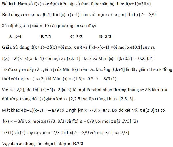 Lời giải bài toán khó nhất đề thi tuyển sinh đại học của Trung Quốc