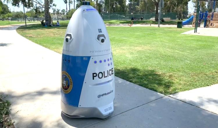 Cảnh sát Mỹ sử dụng robot tuần tra nơi công cộng - ảnh 2