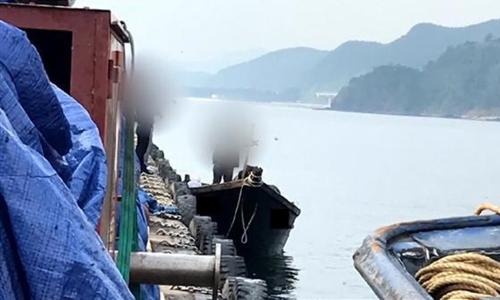 Thuyền cá Triều Tiên tại cảng ở thành phố Samcheok, tỉnh Gangwon, Hàn Quốc sáng 15/6. Ảnh: Yonhap.