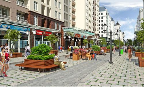 Phối cảnh khu nhà ở giãn dân phố cổ đượcquận Hoàn Kiếm công bố năm 2015.