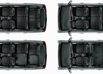 Ba hàng ghế của xe có khả năng chở tới 8 người.