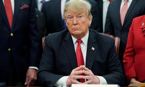Tổng thống Mỹ Trump tại Nhà Trắng tháng 12/2018. Ảnh: Reuters.