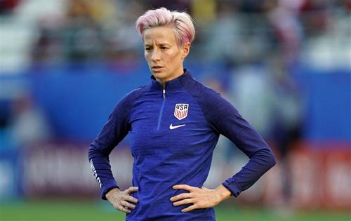 Sao bóng đá nữ Mỹ Megan Rapinoe. Ảnh: NBC.