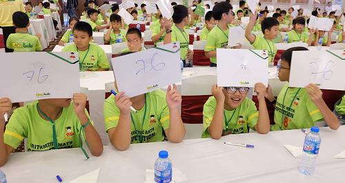 Phần thi trí tuệ với các vòng thi gồm nhìn tính, nghe tính, online (thi theo phần mềm online Super brain Việt Nam), có 4 cấp độ khác nhau tùy theo độ tuổi. Thí sinh phải thực hiện 25 phép tính 2 chữ số liên tục chỉ trong vòng 6 giây. Các em còn thực hiện bài toán tính nhẩm nhanh (Toán Soroban - tưởng tượng hình ảnh bàn tính và thực hiện các phép) nhân, chia, số thập phân và có kết quả trong vòng 3 giây.