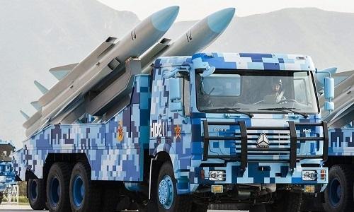 Tên lửa hành trình chống hạm của Trung Quốc. Ảnh: Twitter.
