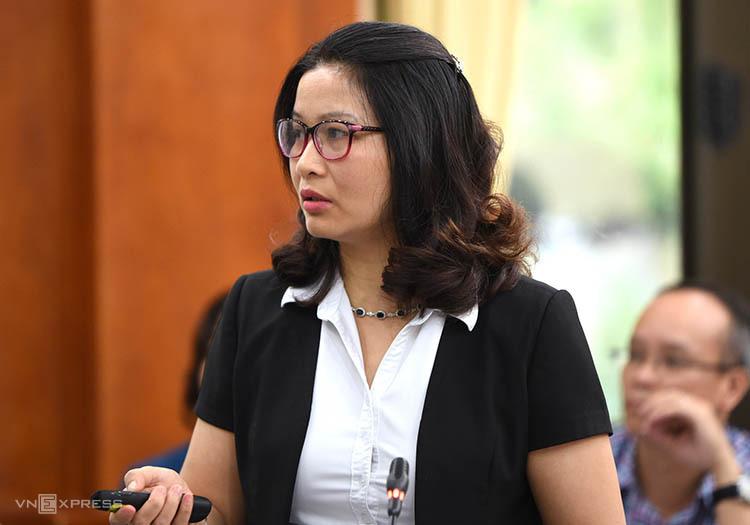 GS Nguyễn Thị Lan báo cáo bước đầu về kết quả nghiên cứu. Ảnh: Tùng Đinh.
