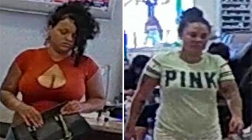 Hai nữ nghi phạm quỵt tiền và trộm tiền ở tiệm nail Red Persimmon hôm 30/6.Ảnh: Abc7