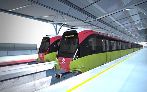 Mẫu thiết kế đoàn tàu tuyến đường sắt số 3 được đưa ra lấy ý kiến người dân vào tháng 8/2018. Nguồn: MRB.