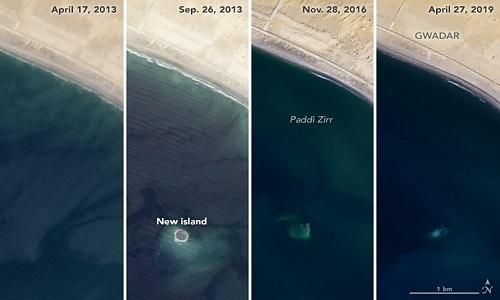Hòn đảo bị đại dương 'nuốt chửng' ngoài khơi Pakistan