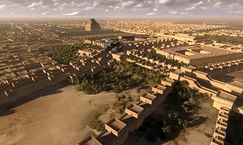 Babylon từng là thành phố đông dân nhất thế giới. Ảnh: Learnodo Newtonic