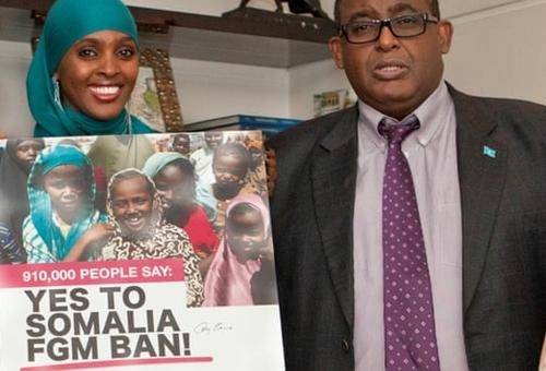 Ifrah Ahemd và Thủ tướng Somalia ở Rome năm 2016. Ảnh: Quỹ Ifrah.