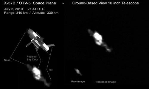 Máy bay X-37B được chụp ở độ cao hơn 300 km. Ảnh: Ralf Vandebergh.