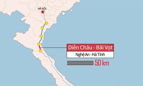 Chiều dài 8 dự án cao tốc Bắc Nam được đầu tư theo hình thức PPP.