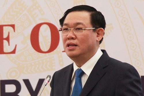 Phó thủ tướng Vương Đình Huệ. Ảnh: Viết Tuân.