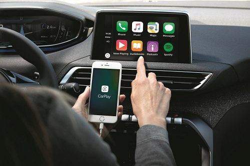 3008 hỗ trợ hệ thống Apple Carplay - Android Auto.